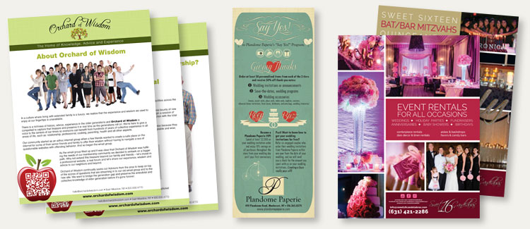 Various samples of flyer graphic design