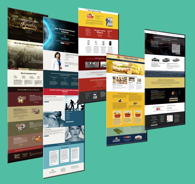 5 website samples of designs by kolleen shallcross