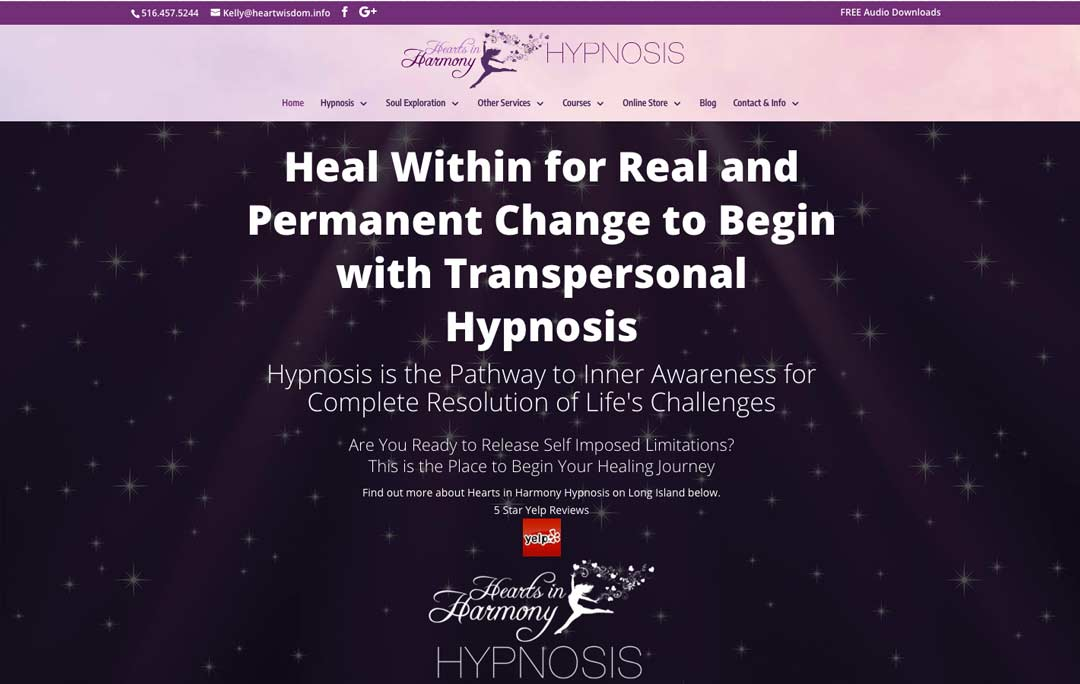Hearts-in-harmony-hypnosis-website-homepage-screenshot