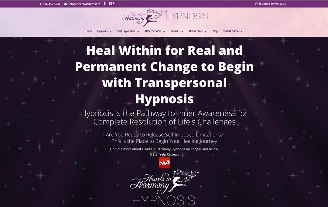 Hearts-in-harmony-hypnosis-website-homepage-screenshot
