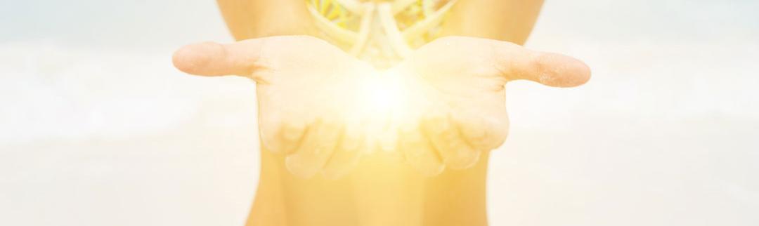 light energy in hands