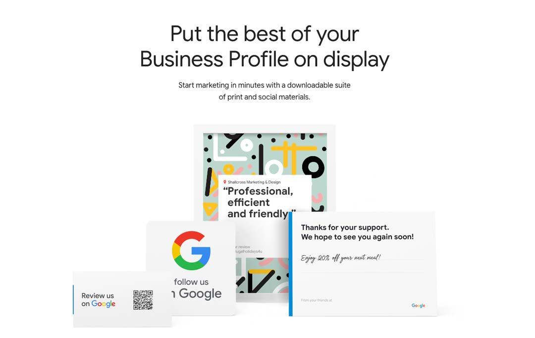 Google Marketing Kit Business Profile Screen shot