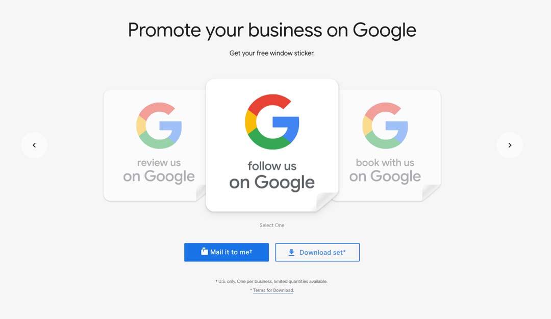 Screen shot of google marketing kit promotion profile